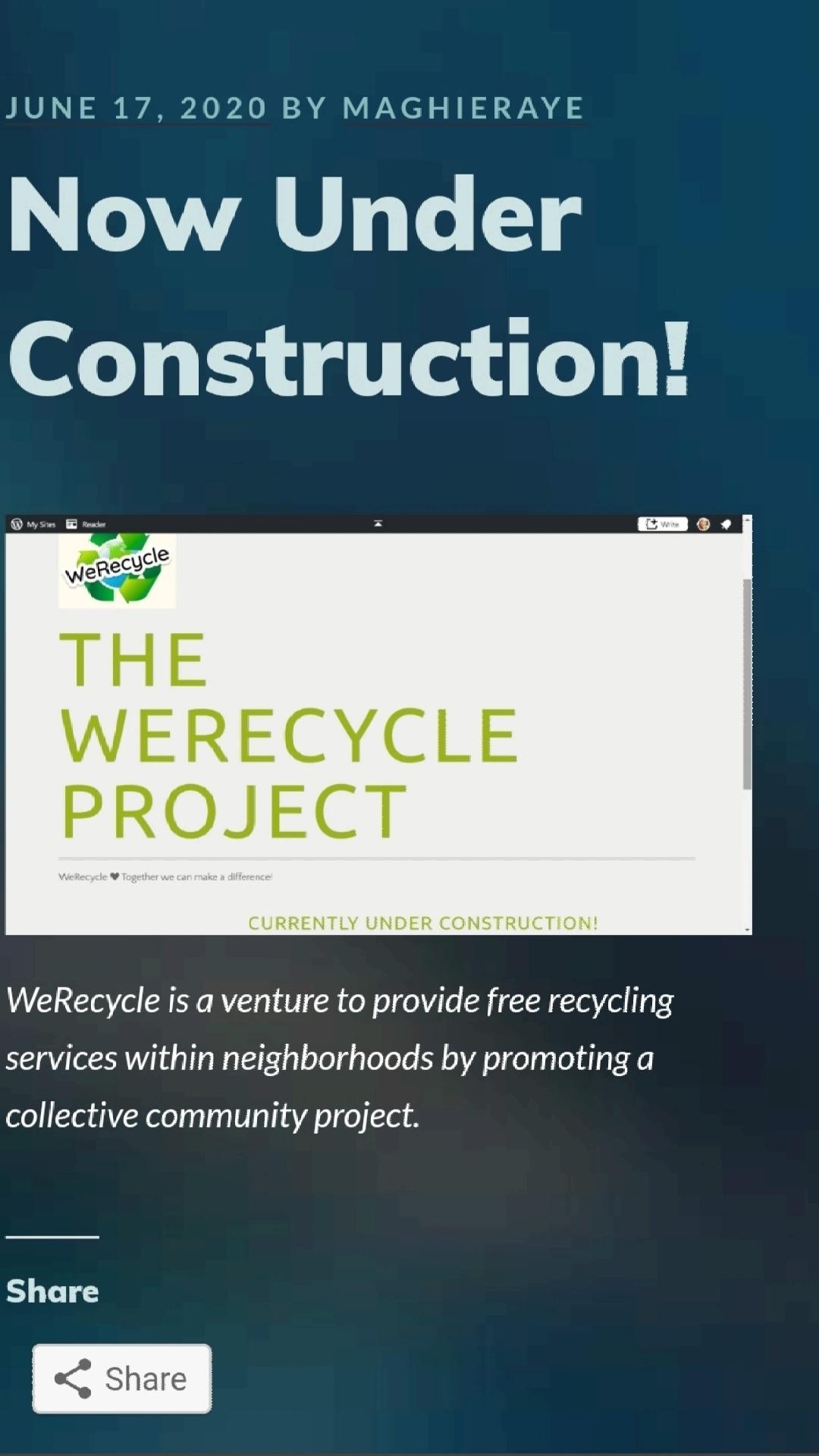 Werecycle under construction image
