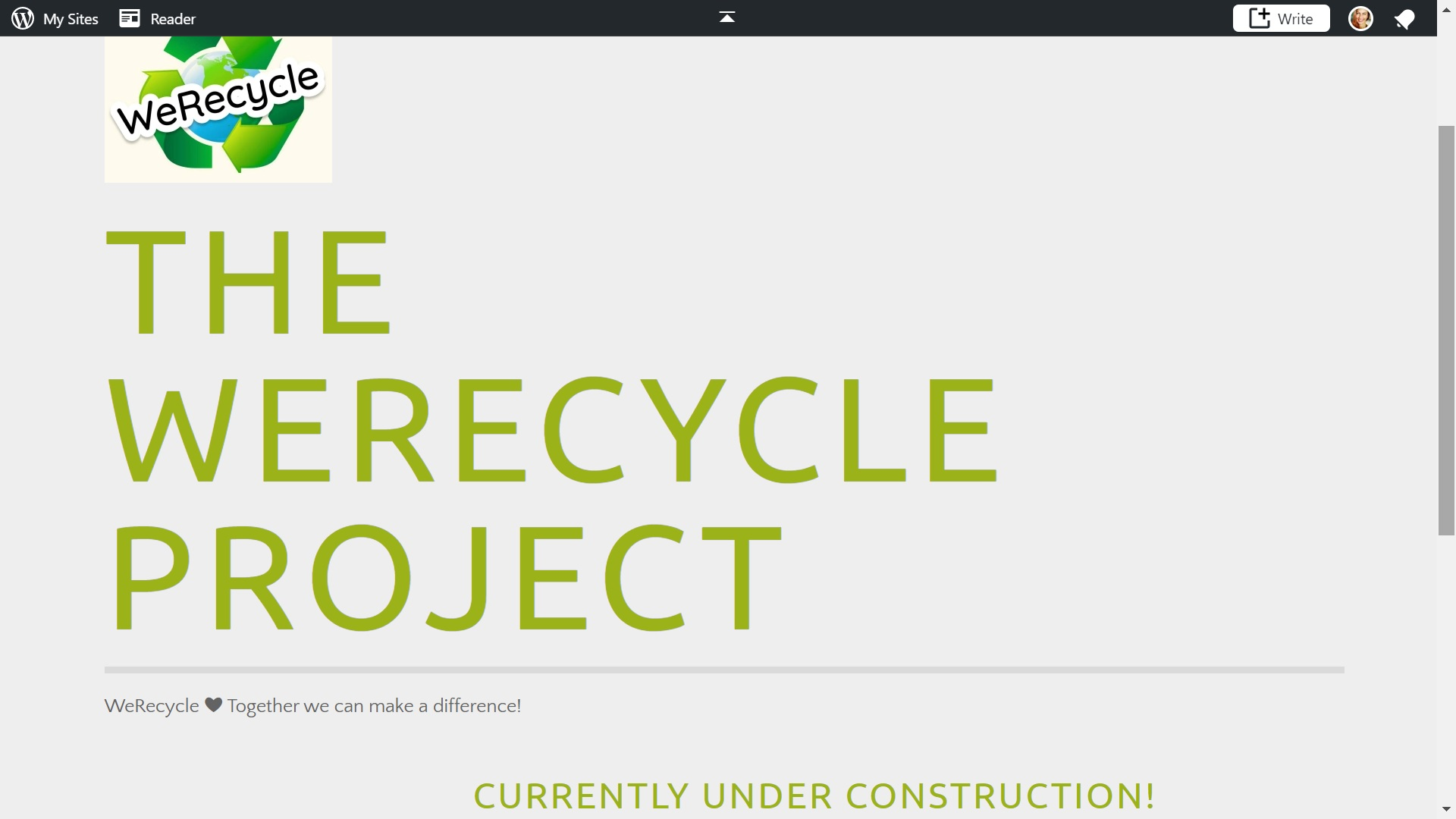 The WeRecycle Project logo